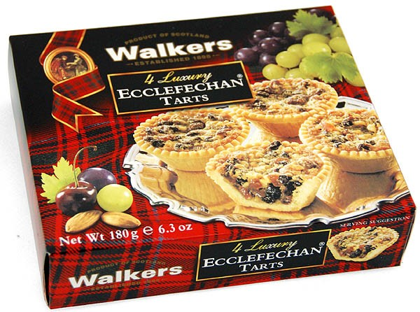 Walkers 4 Luxury Ecclefechan Tarts 180g