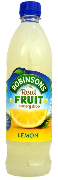 Robinsons Lemon No Added Sugar NAS