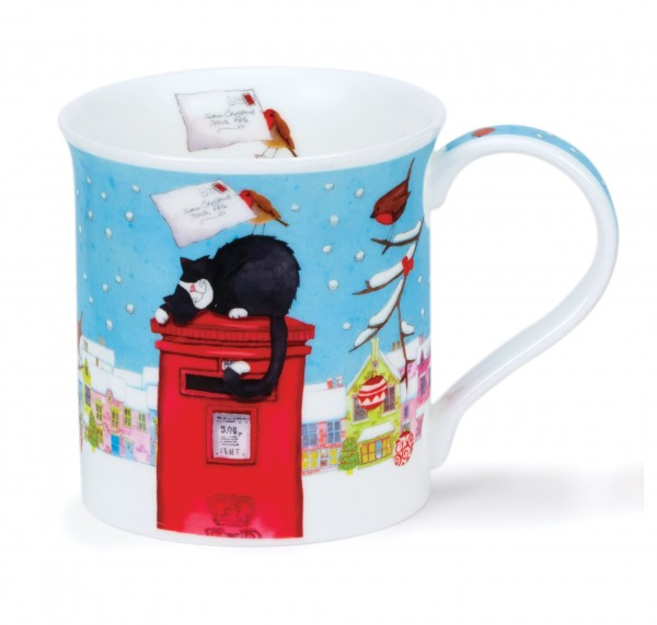 Dunoon Bute Christmas Post Cat by Kate Mawdsley