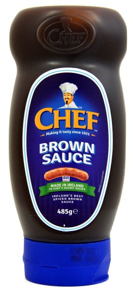 Chef Brown Sauce 485g Squeezy