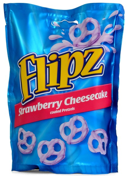 Flipz Strawberry Cheesecake Flavour Coated Pretzels 90g