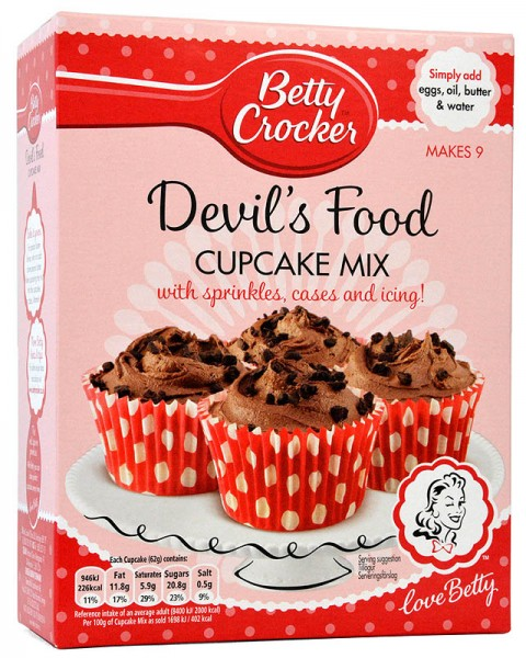 Betty Crocker Devils Food Cupcake Mix