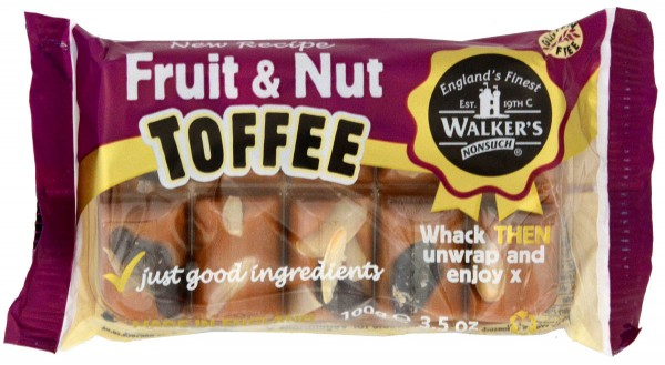 Walkers´ Nonsuch Fruit & Nut Toffee - Rosinen & Nüsse