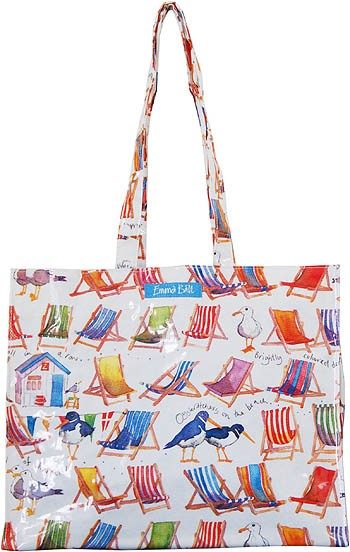 Coastal Large PVC Bag by Emma Ball