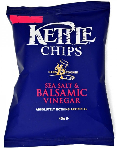 18x40g Kettle Chips Sea Salt & Balsamic Vinegar Karton
