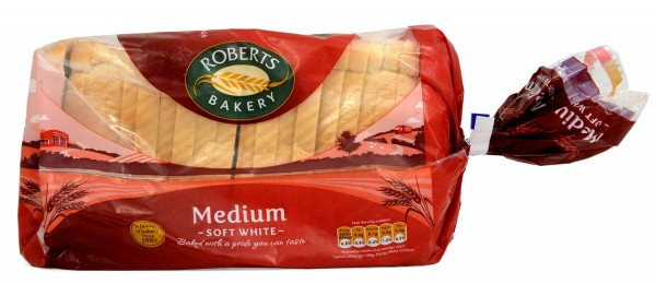 Roberts Medium Sliced White Bread 800g
