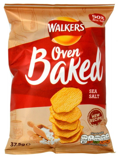 Walkers Oven Baked Sea Salt Karton 32 x 37.5g
