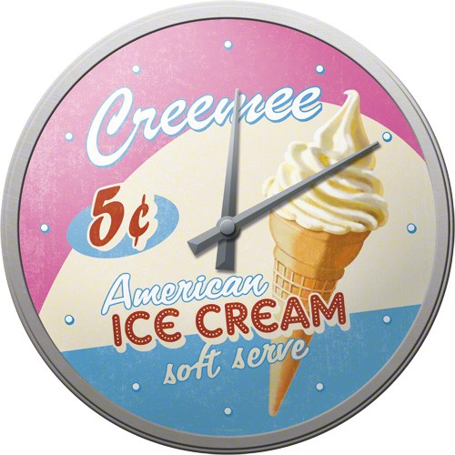 Wall Clock ´Creemee American Ice Cream´