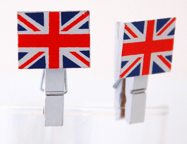Mini-Holzklammern Union Jack 2er
