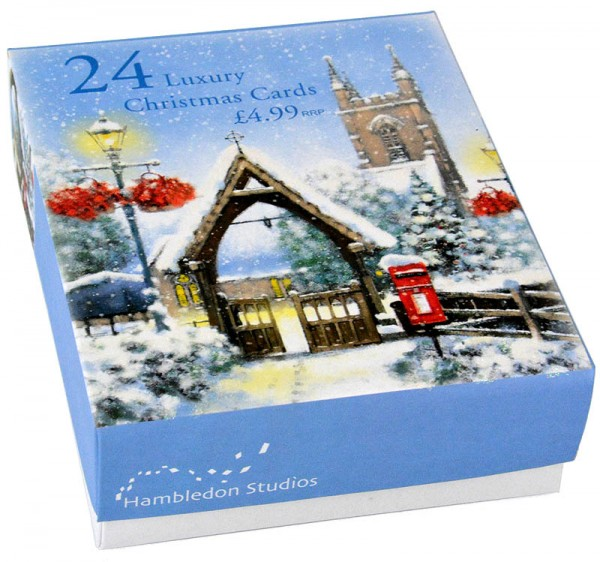 24 Luxury Christmas Cards Church - Kirchen