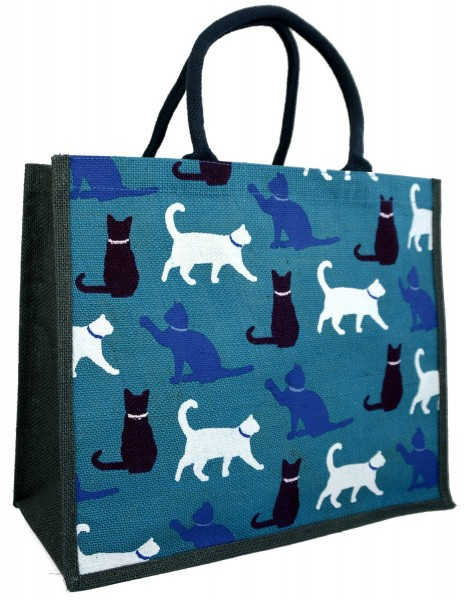 Jute Shopping Bag Cats