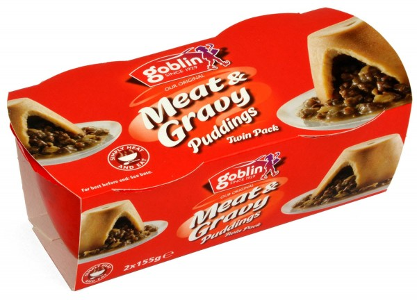 Goblin Meat & Gravy Puddings 2 x 155g Twin Pack