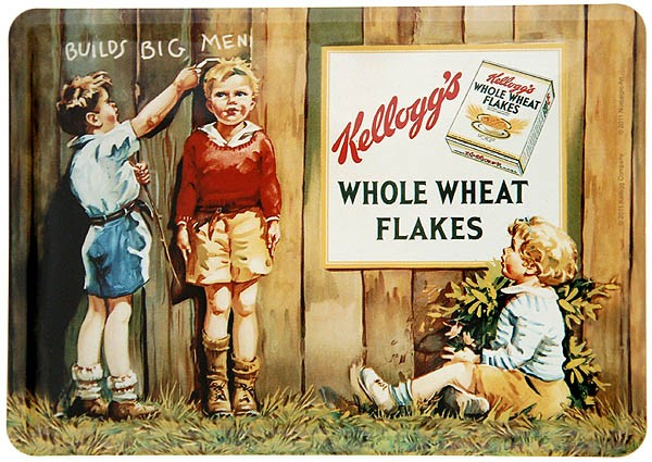 Metal Card Blechkarte ´Kellogg´s Builds Big Men´