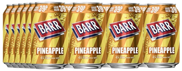Barr Pineapple 24 x 330ml Dosen