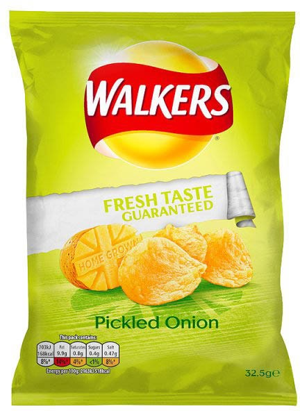 Walkers Pickled Onion, Karton 32 x 32,5g