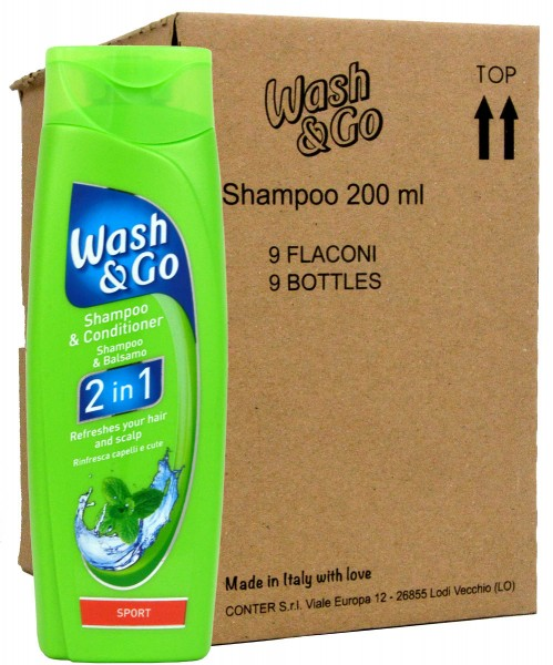 Wash & Go 2in1 Sport Shampoo & Conditioner - 9x