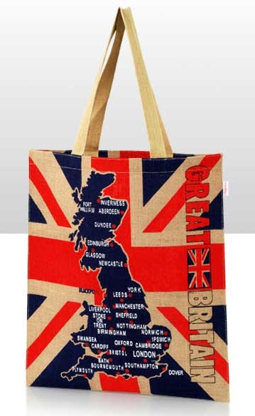 Great Britain Jute Bag
