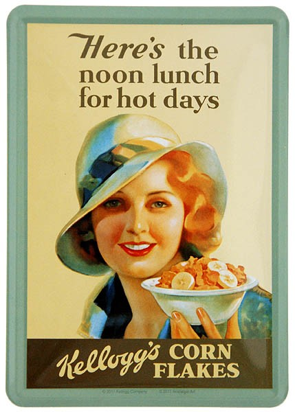 Metal Card Blechkarte ´Kellogg´s - Noon Lunch for Hot Days´