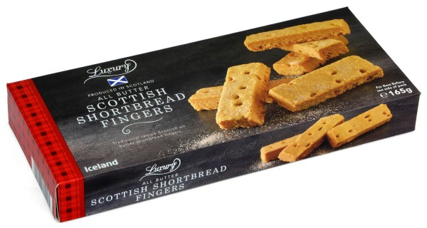 Iceland Luxury Scottish Shortbread Fingers 165g