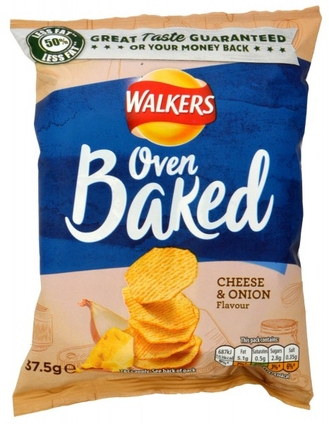 Walkers Oven Baked Cheese & Onion 37.5g