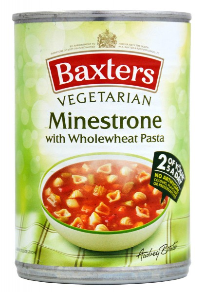 Baxters Vegetarian Soup Minestrone with Pasta 400g