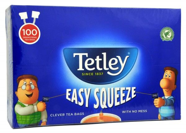 Tetley 100 Beutel Easy Squeeze with Drawstring - 250g