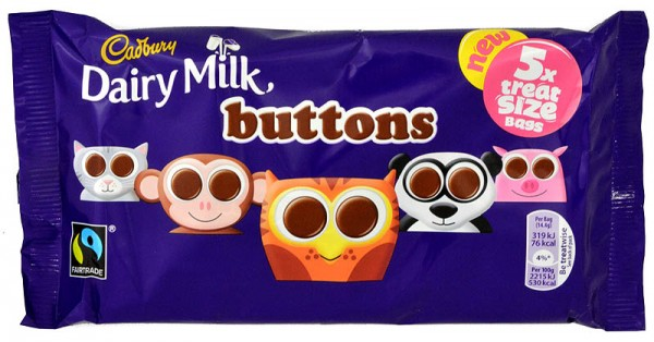 Cadbury Buttons 5x Treatsize Bag 70g