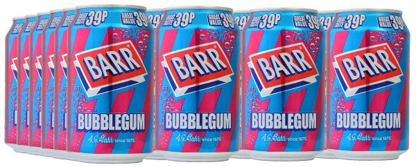 Barr Bubblegum Limonade 24 x 330ml