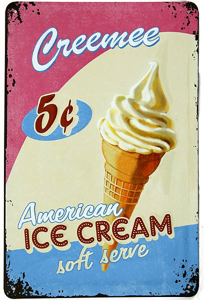 Metal Sign ´Creemee Ice Cream´