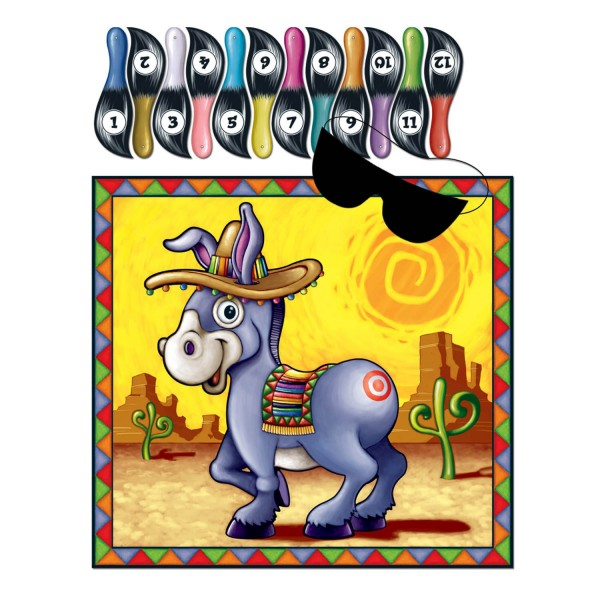Partyspiel Pin the Tail on the Donkey ´´Burrito´´