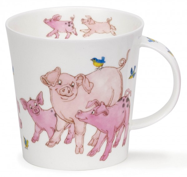 Dunoon Cairngorm Tickled Pink Pig by Cherry Denman
