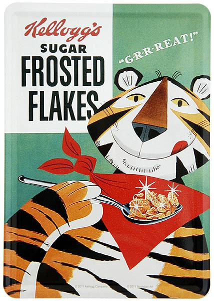 Metal Card Blechkarte ´Kellogg´s Sugar Frosted Flakes´