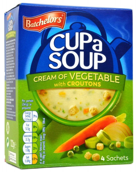 Batchelors Cup-a-Soup Cream of Vegetable with Croutons 122g