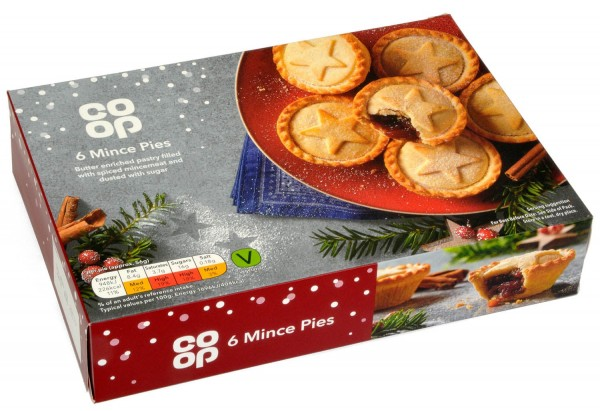 Co-op 6 Mince Pies 336g MHD 5.12.2019