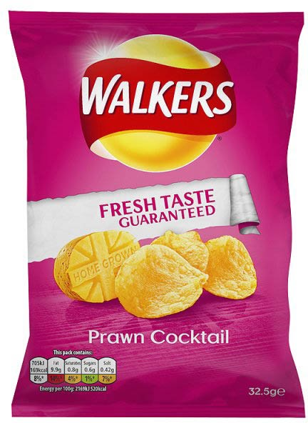 Walkers Prawn Cocktail, Tüte 32,5 g