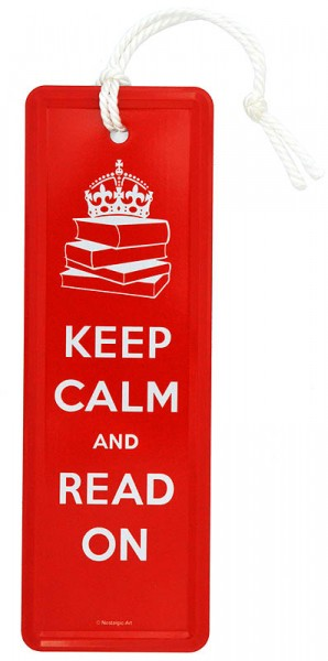 Lesezeichen ´Keep Calm and Read On´