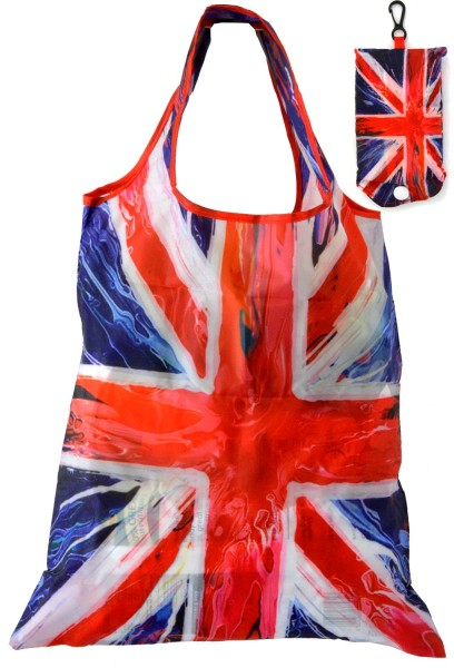 Union Jack Spin Painting Faltbare Tragetasche