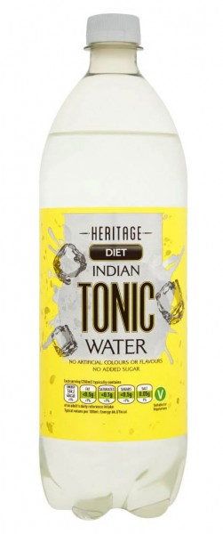 Heritage Low Calorie Indian Tonic Water 1 Liter