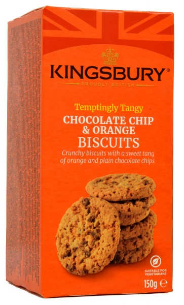 Kingsbury Chocolate Chip & Orange Biscuits 150g