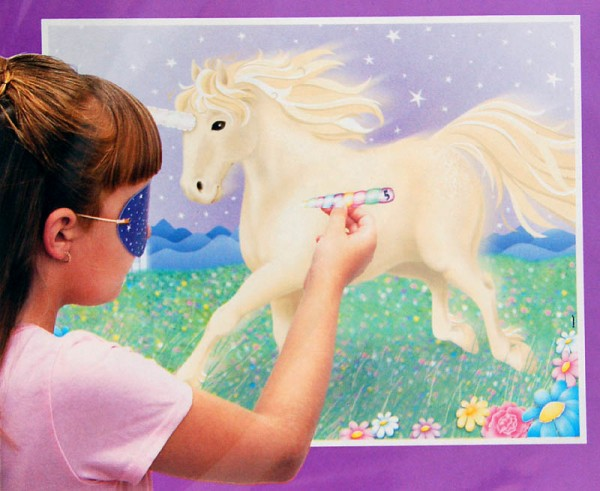 Pin The Horn On The Unicorn Partyspiel
