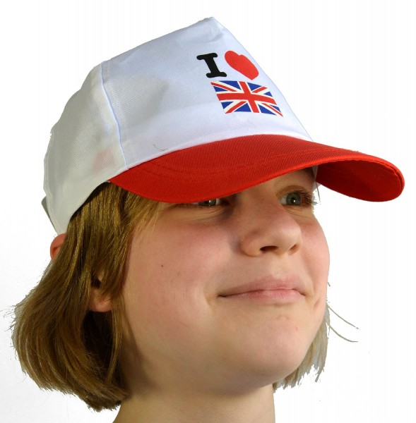 Baseball Cap I Love Great Britain White