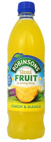 Robinsons Lemon & Mango No Added Sugar NAS