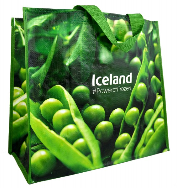 Iceland Woven Shopping Bag Peas
