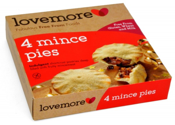 Lovemore 4 Free From Mince Pies 270g