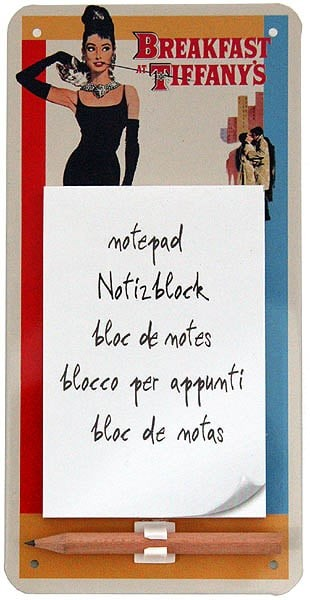 Magnetic Notepad ´Breakfast at Tiffany´s´