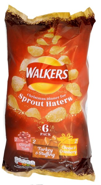 Walkers Christmas Dinner for Sprout Haters 6x25g