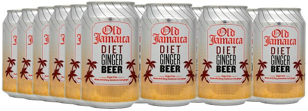 Old Jamaica Diet Ginger Beer 24 x 330ml Tray