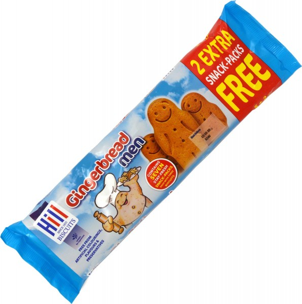 Hill Gingerbread Men Snack Packs 7 x 30g