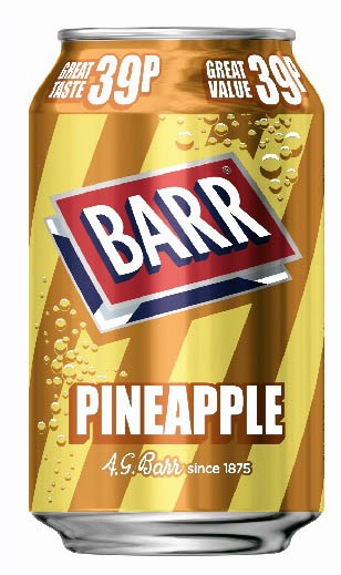 Barr Pineapple 330ml Dose