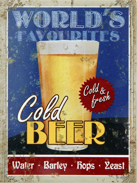 Magnet ´World´s Favourites Cold Beer´